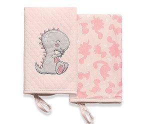 Pano de Boca Meus Dinos Rosa Hug Baby - 2 Unidades