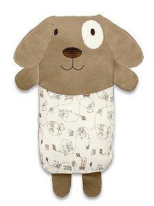 Travesseiro Agarradinho Cachorro Marrom Melhores Amigos Hug Baby (0m+)