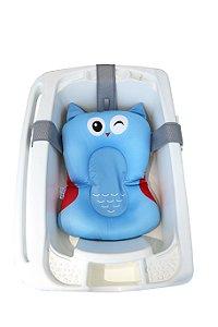 Almofada de Banho para Bebê Coruja Azul Kababy (0m+)