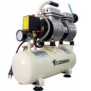 Compressor Ar Silencioso Isento Óleo 220v Compbrasil 550-8l