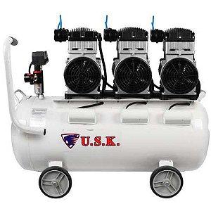 Compressor Ar 2,2HP Odonto Pintura 220v Compbrasil 550x3-65L