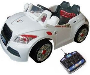 Mini Veículo Audi 2x1 Som Luz iPod MP3 Branco Bel Fix 924700