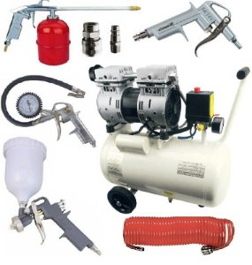 Compressor Ar Isento Óleo 220v 550-24l + Kit Pintura MTX 573049 + Engate 570169