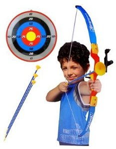 Kit Arco Flecha Arqueiro Mira Laser Alvo Pontuação Infantil Bel 490500