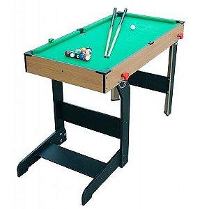 Mesa Sinuca Bilhar Snooker Dobrável 1,17m Jogo Bolas Game Bel Brink 487400