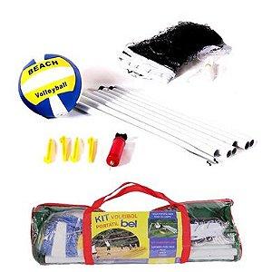 Kit Voleibol Vôlei Mastro Rede Bola Bomba Ar Jogo Bel Brink 488200