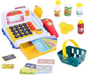 Caixa Registradora Calculadora Scanner Infantil Som Luz Bel 970800