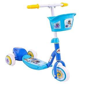 Patinete Infantil Bolhas Sabão 3 Rodas 20kg Freio Bubble Azul Bel Sports 509500