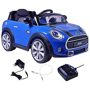 Mini Cooper 2x1 Veículo 12v Carro Elétrico Infantil C. Remoto Azul Bel Brink 926600