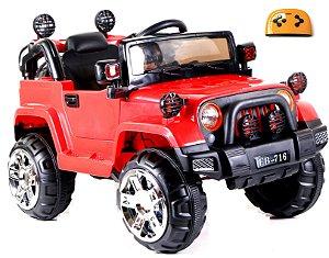 Mini Veículo Infantil Elétrico 3x1 Jipe 12v Controle Remoto Vermelho Glee S8-R