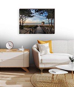 Quadro decorativo Paisagem Itajaí Mod.14- Amanhecer Praia Brava [BoxMadeira]