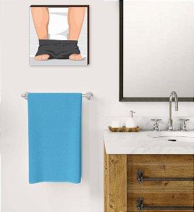 Quadro decorativo Banheiro Masculino QUADRADO [BoxMadeira]