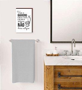 Quadro Use o banheiro Mod.04 [BOX DE MADEIRA]