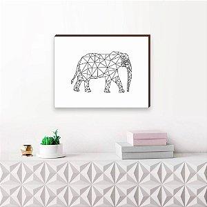 Quadro decorativo Elefante geométrico [Box de Madeira]