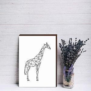 Quadro decorativo Girafa geométrico [Box de Madeira]