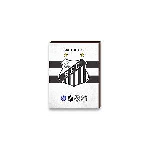 Quadro decorativo Time Santos mod. 01 [Box de madeira]