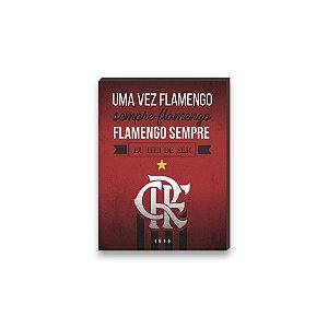 Quadro decorativo Time Flamengo mod. 03 [Box de madeira]