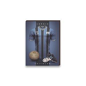 Quadro decorativo Time Grêmio mod. 02 [Box de madeira]