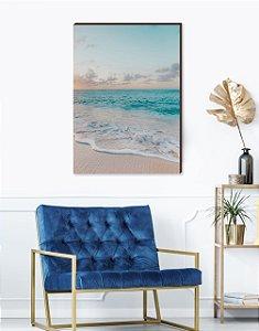 Quadro decorativo Praia Azul [box de Madeira]
