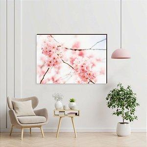 Quadro decorativo Árvore cerejeira rosa do Japão [BoxMadeira]