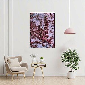 Quadro decorativo Árvore cerejeira Rosa e Céu Arroxeado  [BoxMadeira]