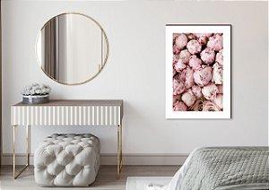 Quadro decorativo Peônia Rosa [BoxMadeira]
