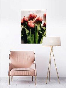 Quadro decorativo Tulipa branca com fundo claro [BoxMadeira]