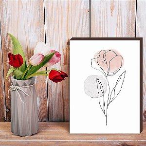 Quadro decorativo Flor Orgânica [BoxMadeira]