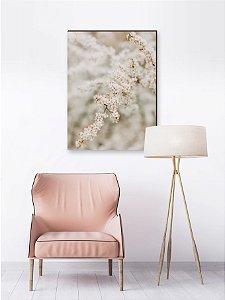 Quadro decorativo Flor Cerejeira Branca Galho [BoxMadeira]