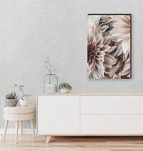 Quadro decorativo Flor Peônia Mod.01 [BoxMadeira]