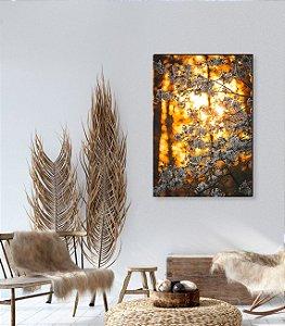 Quadro decorativo Cerejeira branca e fundo pôr do sol [BoxMadeira]