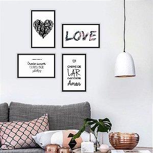 "Kit ""Amor e Lar"" [Moldura+vidro]"