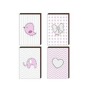 Kit de quadros infantil Baby Tracinhos [BoxMadeira]