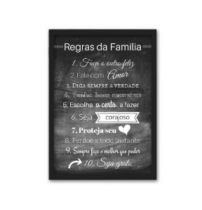 Regras da Família [MolduraVidro]