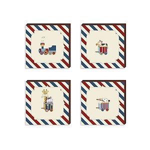 Quarteto infantil Trem [BoxMadeira]