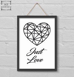 Coração Just Love [MolduraVidro]