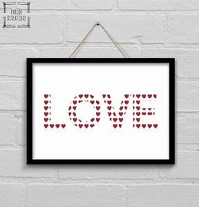 Love Coração [MolduraVidro]