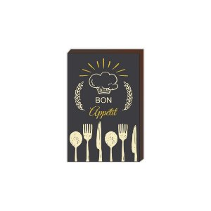 Quadro de cozinha Bon Appétit [BoxMadeira]