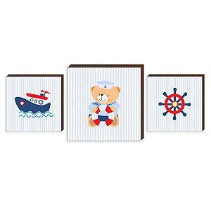Kit de quadros infantil Marinheiro Baby [BoxMadeira]