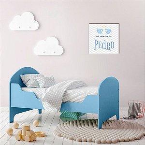 Quadro Personalizado infantil Aqui dorme um anjo Menino [Box de Madeira]