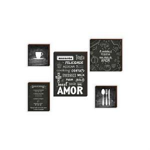 Quadros Kit Cozinha mod. 01 [BOX DE MADEIRA]