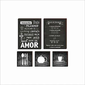 Quadros Kit Cozinha mod. 02 [BOX DE MADEIRA]