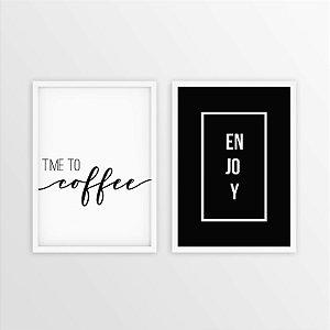 DUPLA APROVEITE O CAFÉ [MOLDURA E VIDRO]
