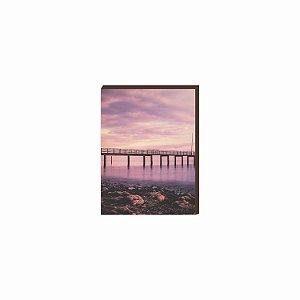 Quadro trapiche praia Rosa [BOX DE MADEIRA]
