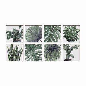Quadros Kit Garden Plantas  [BOX DE MADEIRA]