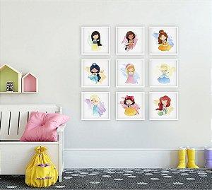Coleção Quadros Princesas da Disney [Moldura e Vidro]