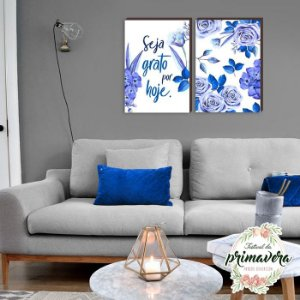 Dupla Seja Grato Azul [Box de Madeira]