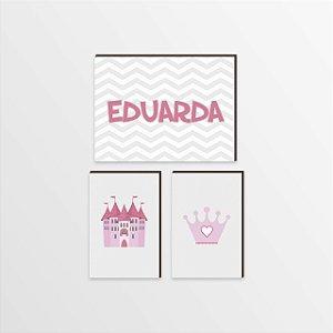 Trio de Quadros Princesa [BoxMadeira]