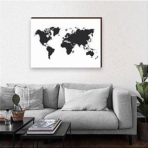 Quadro mapa Preto [BOX DE MADEIRA]
