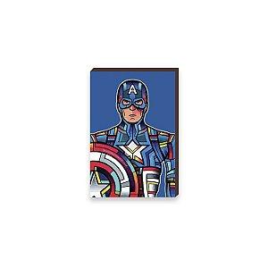 Quadro Capitão América Super Heróis da Marvel Pop Art [BoxMadeira]